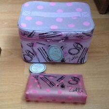 Zoella bundle. Pink, Large, Beauty Frosted Vanity Case and make up bag.