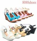 Women's Fashion Causal Buckle Wedges Heel Platform Sandal Shoes Size 5 -11 NEW