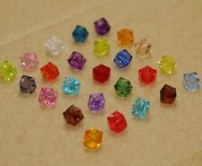 400Pcs Mixed color Transparent Multilateral Acrylic beads Spacer Bead 6mm DF725