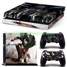 Attack on Titan Anime Levi Squad Ackerman Skin Sticker Decal Protector for PS4