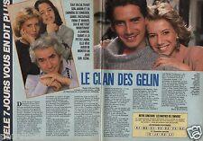 Coupure de presse Clipping 1986 Le Clan Gelin Daniel Fiona Manuel  (2 pages)