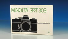 MINOLTA SR-T 303  Bedienungsanleitung german manual Deutsch - (101278)