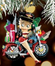 Betty Boop Biker Babe with Gifts on Bike & City Scape in Background Kurt S Adler