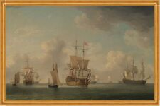 English Ships Under Sail in a Very Light Breeze Brooking Segelschiffe B A2 01035
