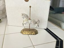 Giftec 1989 Carousel horse on brass base