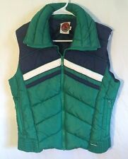 Vtg Mountain Goat Goose Down Blend Puffer Vest Men's Medium Jacket Button Kelso