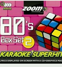 Zoom De Karaoke Cdg 80s Karaoke Superhits Vol 2 Triple Pack Box Set