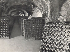 REIMS Maison MOËT&CHANDON galerie bouteilles sur pupitre le remuage timbrée 1981