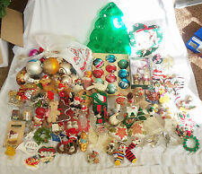 Huge Christmas Lot Figurine Decoration Ornament Glass Ball Santa Angel Sleigh