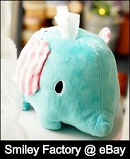 Adorable Sentimental​ Circus Mouton Elephant Plush Tissue Box Cover Soft Touch