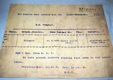 TITANIC Distress Call Telegram Ship Historical Vintage Antique Disaster Retro UK