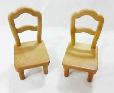Vintage epoch dollhouse furniture miniatures kitchen chairs dining room chairs