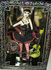 Hard Rock Cafe Punk Goth Barbie Doll fishnet stockings guitar spider boots Xmas