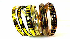 7 PIECE BURNISH GOLDEN PHAROAH  STYLE LOVELY BRACELET / BANGLE SET FAST DELIVERY