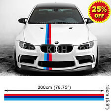 M Performance 3 Colors Hood Decal Stripe Sticker for BMW E90 E91 E92 E93 M3