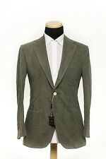 SARTORIA PARTENOPEA NAPOLI Washed Cotton Suit Solid Light Green 38US 48EU 7R