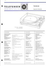 Telefunken Original Service Manual für Phono TS 950 hifi