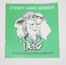 Retro Sticker - Eyespy Gang Member - Debs  Why Should boys have all the fun