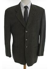 Armani Collezioni Brown Notch Lapel Button Down Suit Jacket Size 41