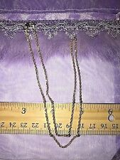 "EternaGold 14K YG 18""Diamond Cut Sparkling Rope Necklace Chain 2.7 grams QVC"
