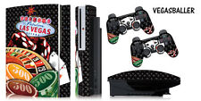 Skin Decal Wrap for PS3 Original Fat Playstation Gaming Console Controller VEGAS