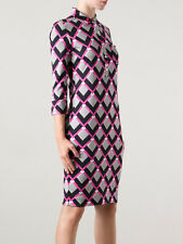 DVF Diane von Furstenberg Ollie Silk Printed Shirt Dress US sz 0  $375 NWT