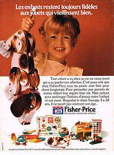 PUBLICITE  1977   FISCHER-PRICE   jeux jouets