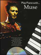 Play Piano with Muse Sheet Music Book with Play-Along Backing Tracks CD