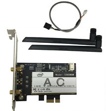 New Intel Dual Band AC 7265NGW 867M 2.4/5G BT4.0 PCI-E Wifi Card For Desktop