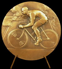 Médaille Course de vélo bicyclette bicycle bike race sc E Blin c1930 49 mm Medal