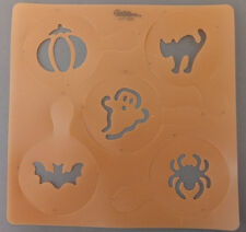 Halloween Cupcake & Cookie Stencil Set 5 by Wilton Ghost Cat Bat Spider Pumpkin