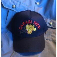 Berretto Cappello Baseball Cap logo Ricamato Carabinieri Fiamma Oro