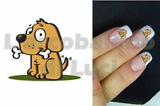 20 PEGATINAS PARA UÑAS PERRO CON EL HUESO DOG WITH BONE NAIL ART NAILS STICKERS