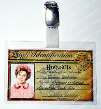 Dolores Umbridge ID Badge Harry Potter Hogwarts Cosplay Costume Prop Halloween