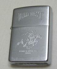 Zippo VII 1991 Wild West Pony Express 1860 - Rare Cowboy Lighter
