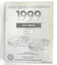 1999 CHEVROLET AND GMC CK TRUCK SERVICE REPAIR MANUAL SILVERADO SIERRA