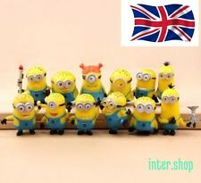 12pcs Cute Despicable Me 2 Minions Movie Character Figures Doll Toy Gift Set UK