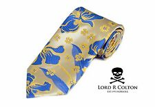 Lord R Colton Masterworks Tie - Gold & Blue Aftermath Silk Necktie - $195 New