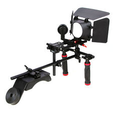 Hand Grip Handle+Shoulder Mount Rig+Follow Focus+Matte Box Sunshade For DSLR 5D2