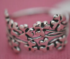 WIDE CLOVER CELTIC RING VERY PRETTY  Genuine Sterling Silver.925 Stamped Size 9