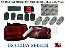 New AbTronic X2 Dual Fitness Belt Slimming Belt,Vibration belt(Gell bottle&Pads)