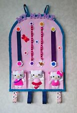 PERSONALISED HELLO KITTY  HAIR ACCESSORIES WALL STORAGE, ORGANISER, GIFT