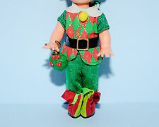 Red Green Christmas Holiday Costume, Slippers Shoes KELLY or TOMMY Outfit BARBIE