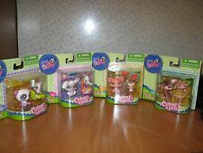 LITTLEST PET SHOP ANIMALS, 4 TOTAL MOMMY AND BABY