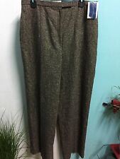 Women's Pants size 16 Wool/Silk Blend Dressy Tweed Lined Charter Club NWT