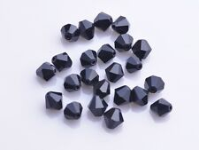 Wholesale 200pcs 4mm Bicone Faceted Crystal Glass Loose Spacer Beads Black