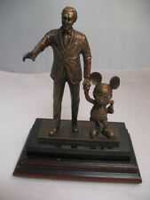 RARE Disney Cast Member PARTNERS IN EXCELLENCE Walt & Mickey Bronze Award Statue