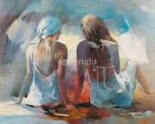 Willem Haenraets: Two Girl Friends I Fertig-Bild 40x50 Mädchen
