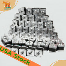 US FREE Wantai 50 pcs Nema17 42BYGHW609L20P1 56OZ-IN,1.7A D-shaft Dual connector