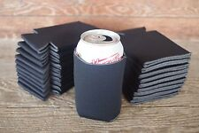 LOT of 25 BLACK Can Koozies Blank Beer Soda Coolers 12 oz Printable Coolies
